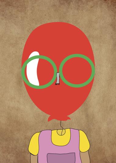 coke bottle glasses portrait